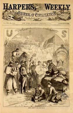 Harpers Weekly Santa 1863