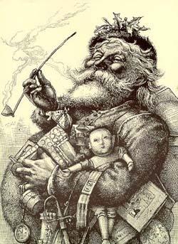 Santa Claus 1881 Harpers Weekly Image