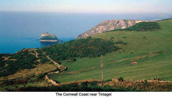 Tintagel Cliffs Cornwall