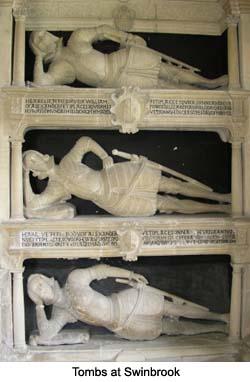 Tombs at Swinbrook Church