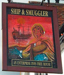 Smuggler's Pub Sign
