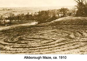 Alkborough turf maze