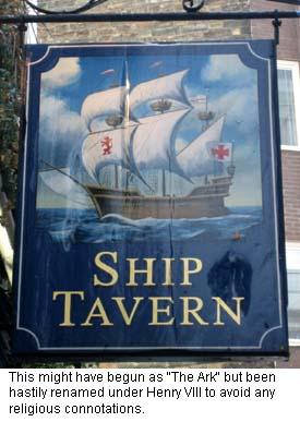 Ship Tavern Pub Sign