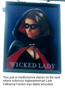 Wicked Lady Pub Sign