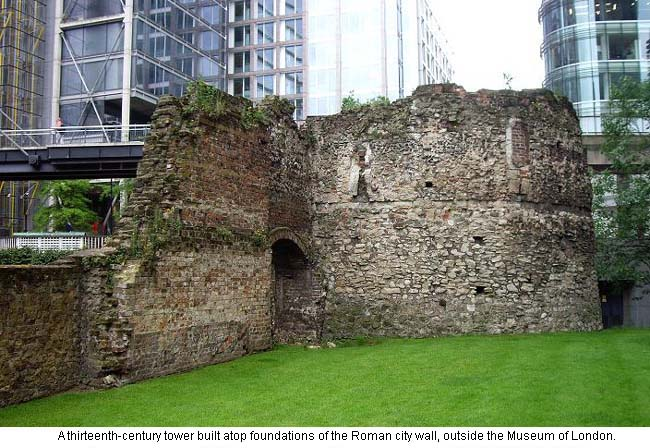 Roman Wall at Museum of London