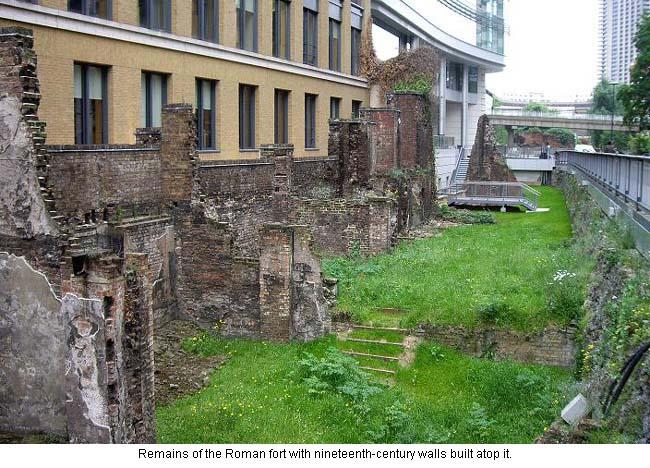 Roman walls in London