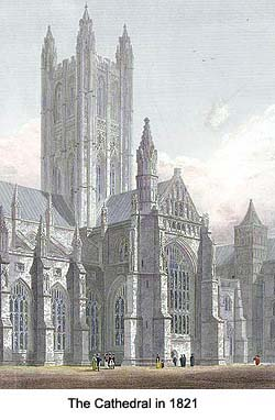 Canterbury Cathedral in 1821