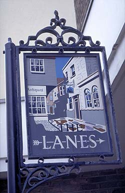 Brighton Lanes Sign