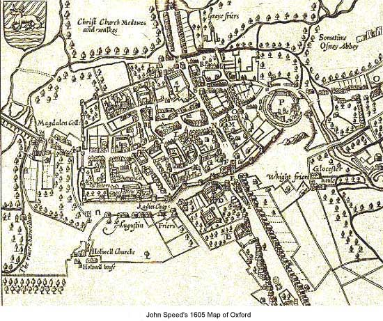 1605 Map of Oxford