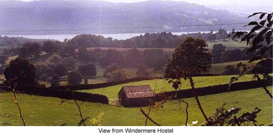 View from Windermere Hostel