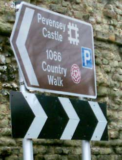 Pevensey Castle Sign