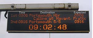 Train Platform Arrival Display