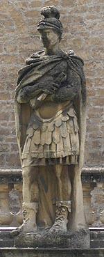 Statue of Roman Emperor, Bath