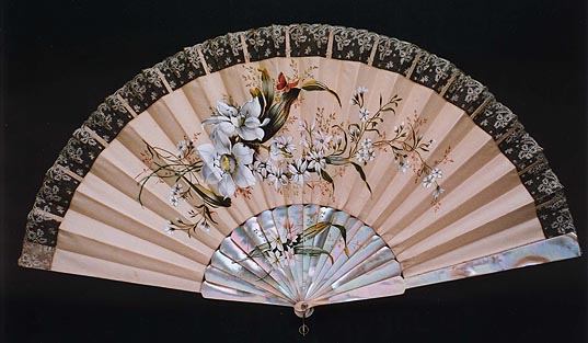 Stately Bride Fan, 1880