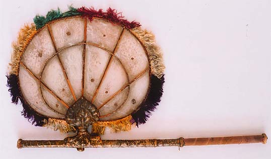 Indian fan with mica panels