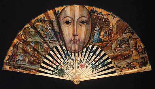 18th Century English Mask Fan