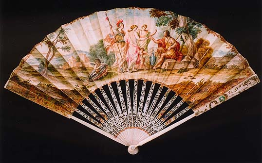 Fan depicting the Judgment of Paris